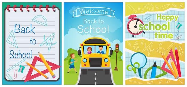 Welkom terug bij school concept templates
