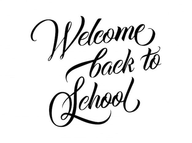 Welkom terug naar school lettering