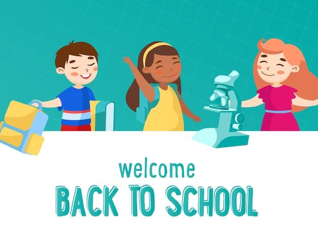 Welkom terug op school concept