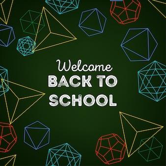 Welkom terug op schoolachtergrond