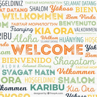 Welkom woordsamenstelling in verschillende talen