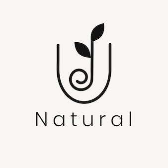 Wellness blad logo sjabloon, moderne natuur ontwerp vector