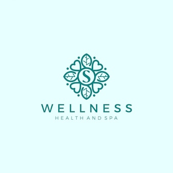Wellness-logo met een eenvoudig en strak modern design met elegante lijnkunststijl voor yogamassage of spa