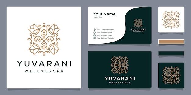 Wellness spa-logo met sjabloon voor visitekaartjes