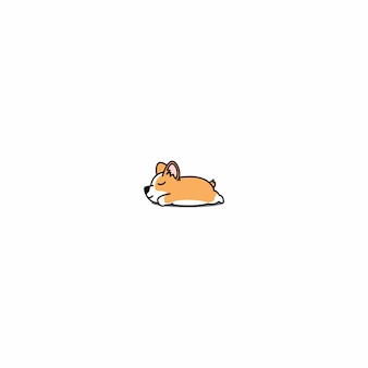 Welsh corgi puppy slaappictogram