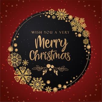 Wens je een heel vrolijk kerstfeest en een gelukkig nieuwjaarswenskaart