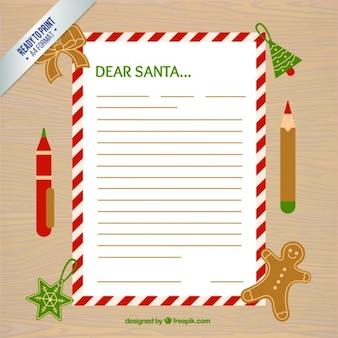 Wens lijst met een decoratieve rand en kerst accessoires