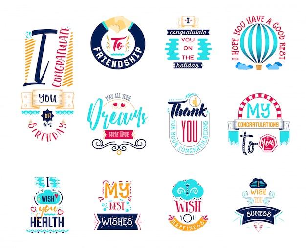 Wensen stickers