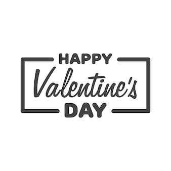 Wenskaart happy valentine's day. belettering vectorillustratie.
