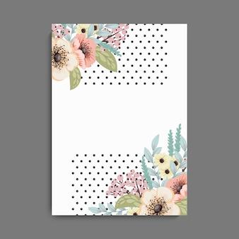 Wenskaart met bloemen. vector achtergrond.