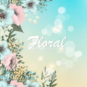 Wenskaart met bloemen