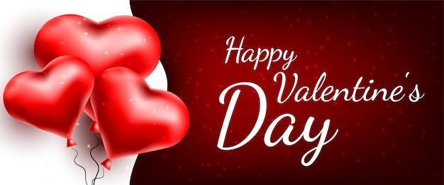 Wenskaart met harten. valentijnsdag banner
