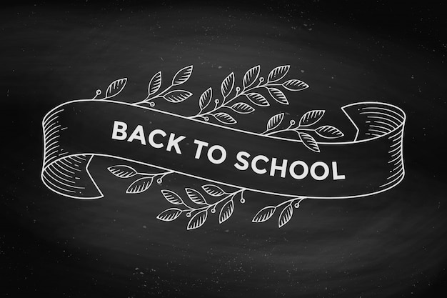 Wenskaart met inscriptie terug naar school