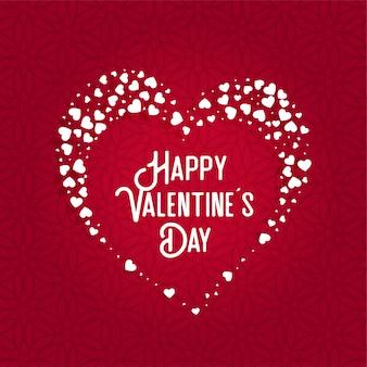 Wenskaart ontwerp voor valentijnsdag