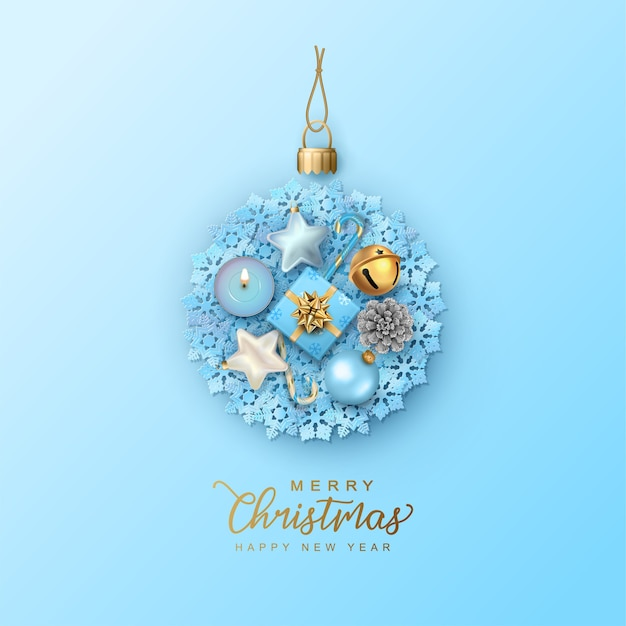 Wenskaart voor kerstmis en nieuwjaar