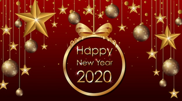 Wenskaartontwerp voor nieuwjaar 2020
