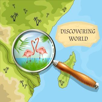 Wereld achtergrond ontdekken