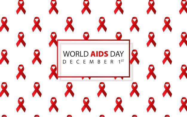 Wereld aids dag aids bewustzijn aids rood lint wereld aids dag 1 december