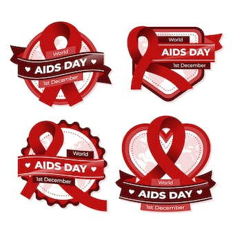 Wereld aids dag badge-collectie