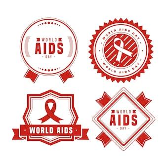 Wereld aids dag badges concept