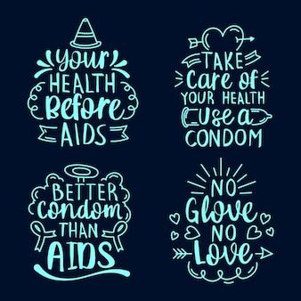 Wereld aids dag belettering citaten