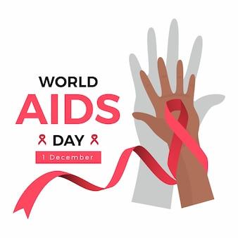 Wereld aids dag concept geïllustreerd