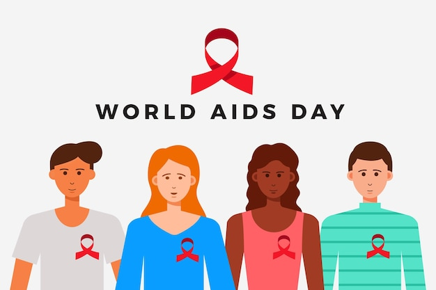 Wereld aids dag concept illustratie