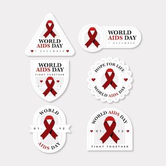 Wereld aids dag etiketten concept