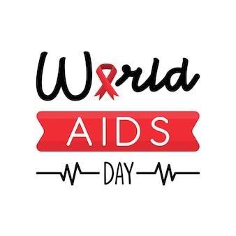 Wereld aids dag groet card concept