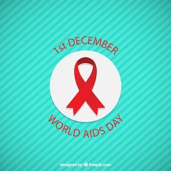Wereld aids dag lint badge