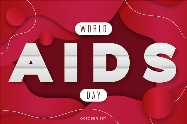 Wereld aidsdag-evenement in backgorund in papierstijl