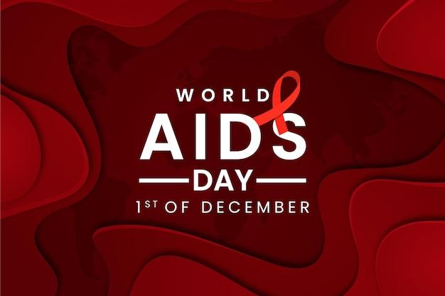 Wereld aidsdag evenement in papierstijl