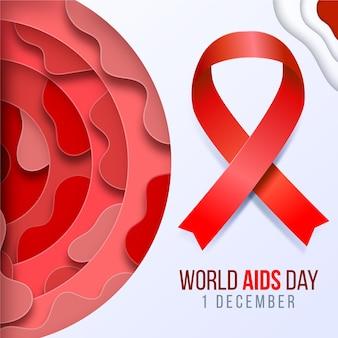 Wereld aidsdag in papierstijl