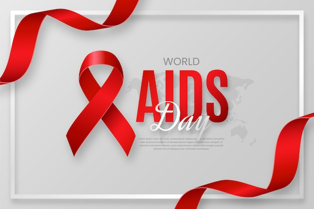 Wereld aidsdag op realistische stijlachtergrond