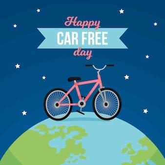 Wereld auto vrije dag concept