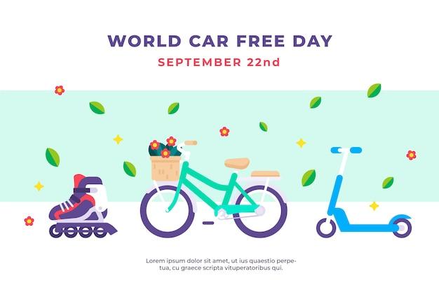 Wereld auto vrije dag illustratie