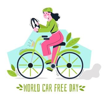 Wereld auto vrije dag tekenen