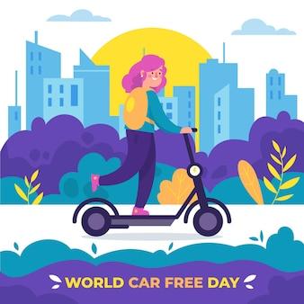 Wereld autovrij dagevenement
