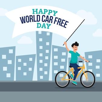 Wereld autovrij dagontwerp
