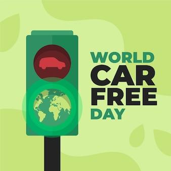Wereld autovrij