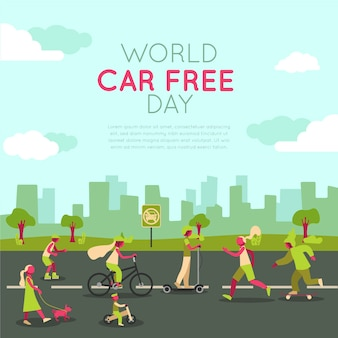 Wereld autovrije dag