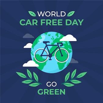 Wereld autovrije dagviering