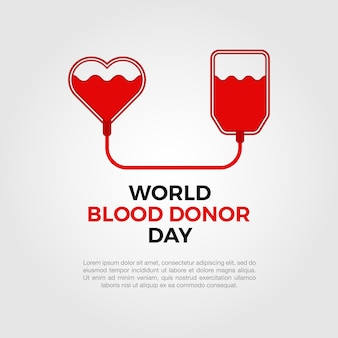 Wereld bloed donor dag achtergrond