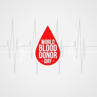 Wereld bloeddonor dag concept achtergrondontwerp