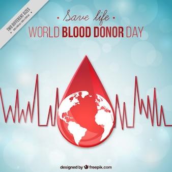 Wereld bloeddonor dag in plat design