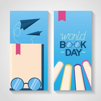 Wereld boek dag banner