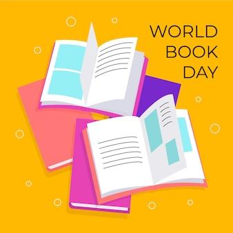 Wereld boek dag concept