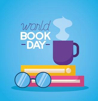 Wereld boek dag illustratie