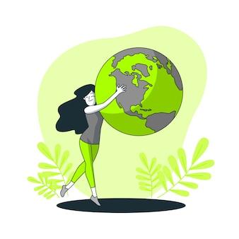 Wereld concept illustratie