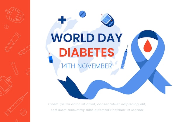 Wereld diabetes dag banner ontwerp